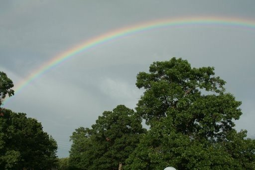 One of the two rainbows we saw that day. God is so good!