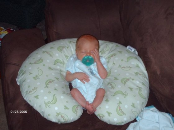 oy! Newborn Mikey knowing at even this age that his mom is crazy!